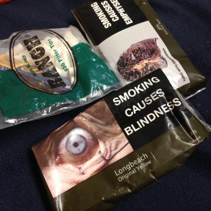 気持ち悪いパッケージのタバコ
